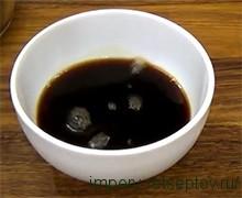 кофе смешиваем с коньяком