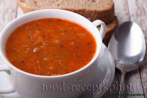 Суп из зеленой чечевицы с куриным мясом