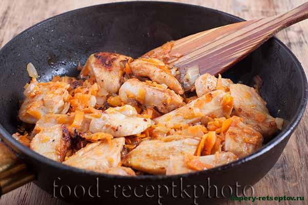 Гречка с куриным мясом