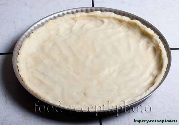Рубленый пирог с брусникой