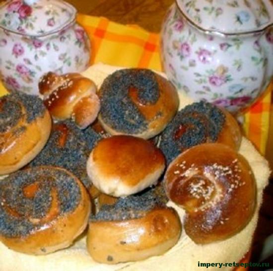 Домашние булочки с маком