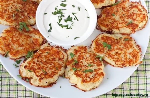 ДРАНИКИ без муки Нежные картофельные оладьи со сметанным соусом Potato Fritters