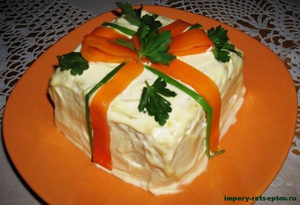 готовый салат посылка на новый год