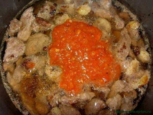АЗУ ПО-ТАТАРСКИ с говядиной (суп- соус). Tatar soup with beef.
