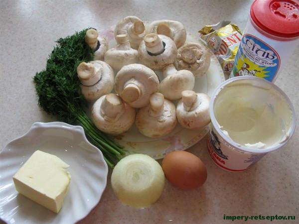 """Закуска \""""Фаршированные грибы\"""""""