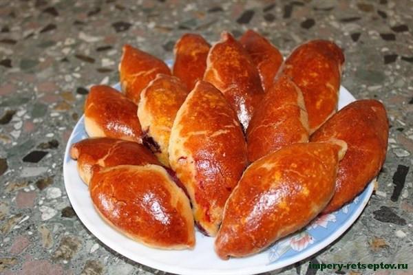 Пирожки с вареньем на сковороде