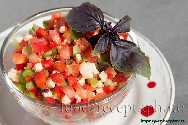Макароны фаршированные салатом