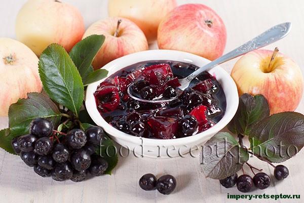 Варенье из аронии черноплодной с яблоками