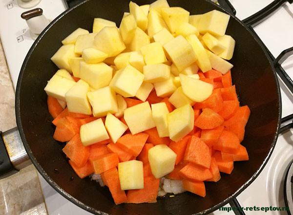 Тушеные овощи с мясом