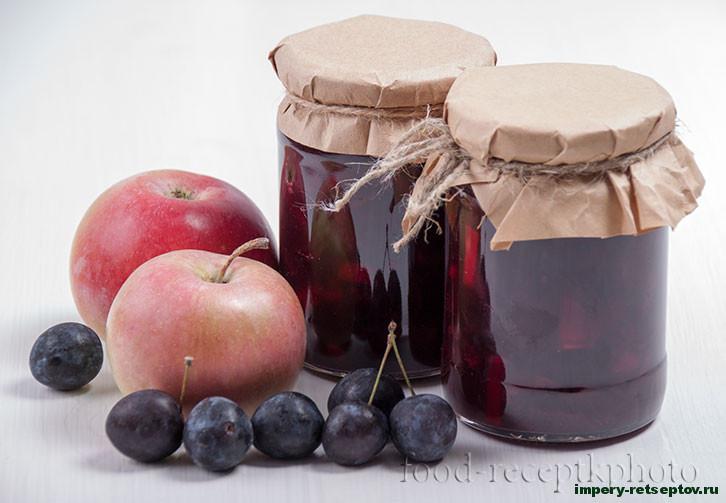 Варенье из тёрна с яблоками