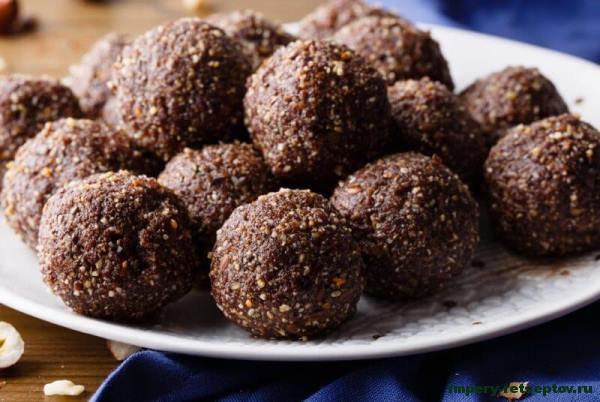 овсяные шоколадные шарики