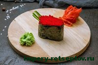 готовые суши гункан с тобико