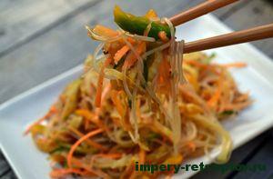 готовый китайский салат из фунчозы