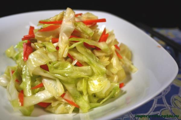салат из свежей капусты по-китайски