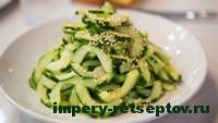 готовый японский салат из огурцов