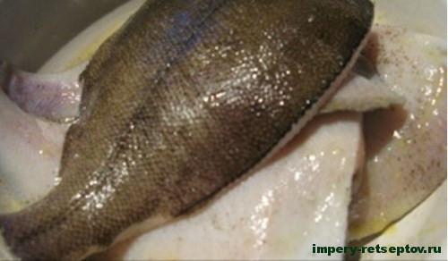 Камбала запеченная в духовке - рецепт с фото