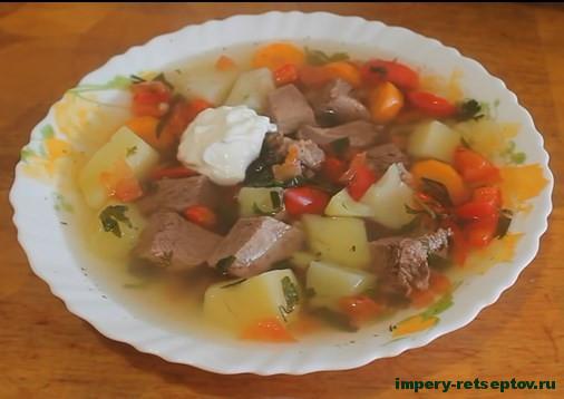 Суп «шурпа» в мультиварке