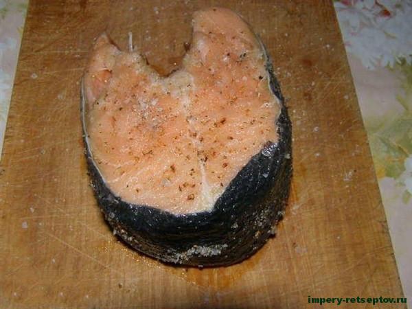 Стейк из семги - рецепт с фото