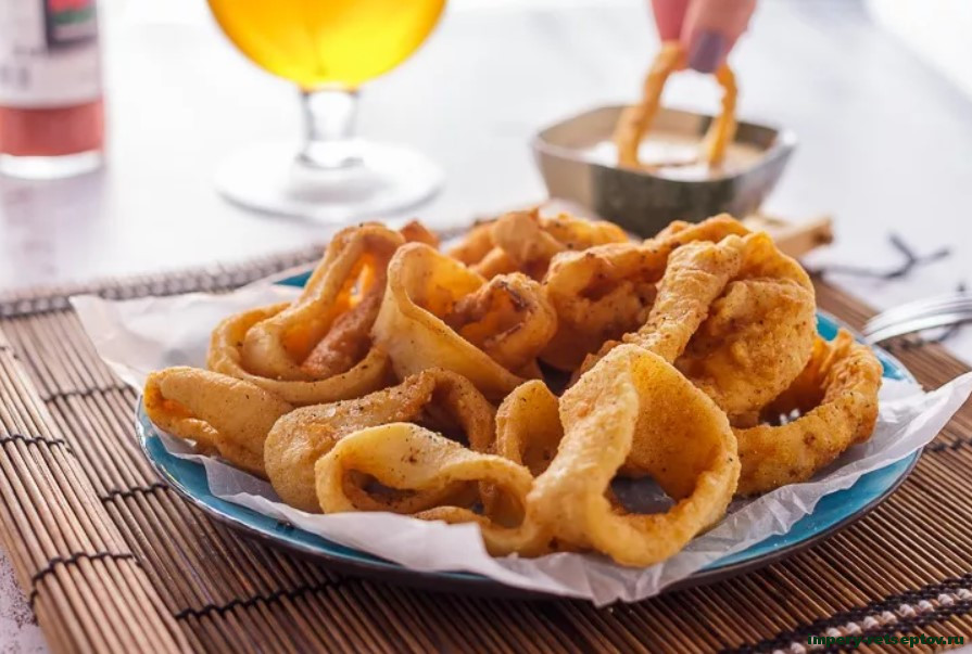 Хрустящие кальмары по-китайски с соусом