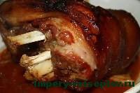 готовая свиная рулька