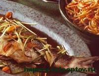 готовый окунь на пару по-китайски