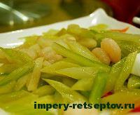 готовый салат с креветками
