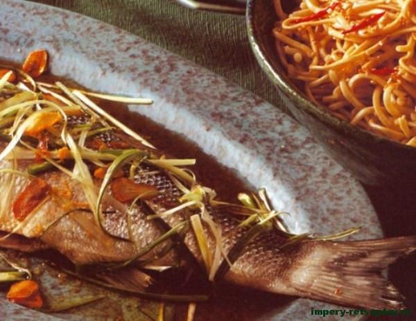 рыба на пару по-китайски