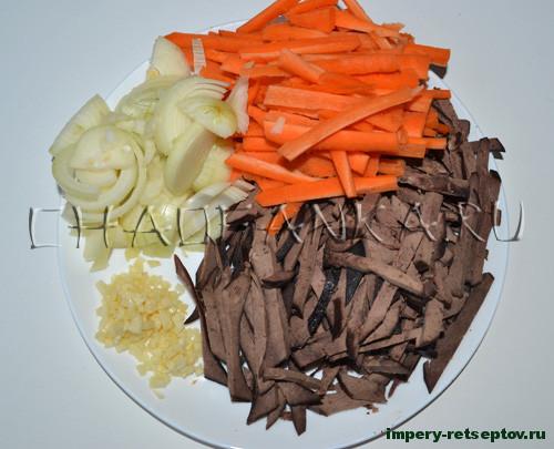 Корейский салат из печени