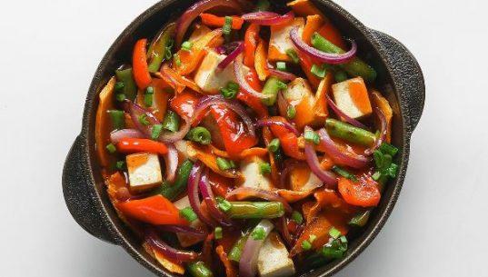 тофу с овощами по-китайски