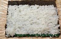 выложить рис на нори