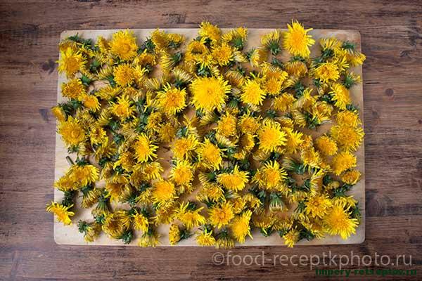 Сироп из цветков одуванчика