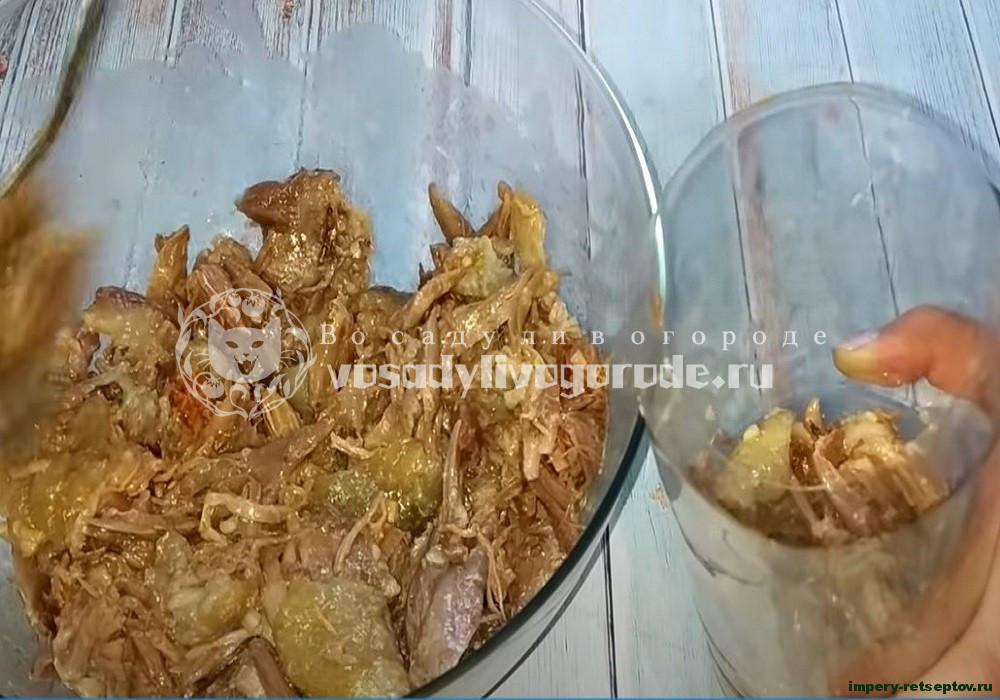 Колбаса (зельц) домашняя очень вкусная из свинины в бутылке
