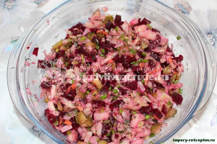 Винегрет - простой витаминный салат